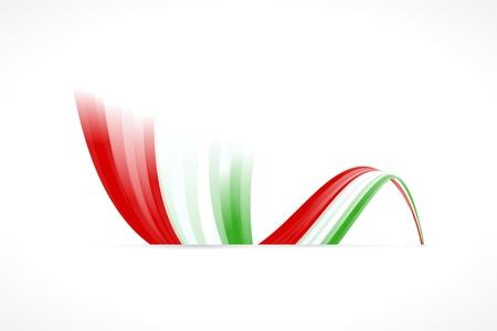 italian car: Abstract Italian waving flag isolated on white background Illustration