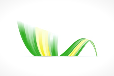 brasil: Abstract Brazilian waving flag isolated on white background