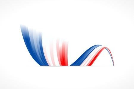 Abstracte golvende Engels en Franse vlag Stock Illustratie