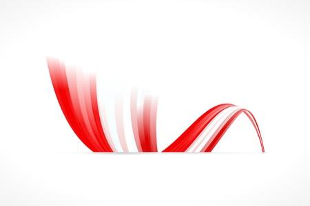 Abstract Deense wapperende vlag op een witte achtergrond Stock Illustratie