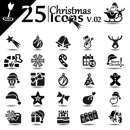 Christmas icon set, basic series Vector