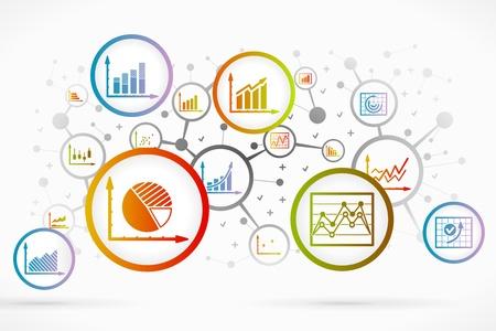 ビジネス インフォ グラフィック アイコンの抽象的な背景