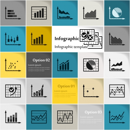 Business infographic icon vector abstract background Vectores