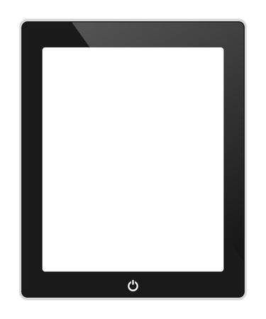 Vector black touch screen tablet similar to pad  isolated on white Stock Vector - 21987110