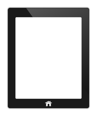 Vector black touch screen tablet similar to pad  isolated on white Stock Vector - 21987114