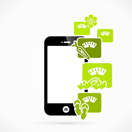Health mobile phone applications vector illustration Vector