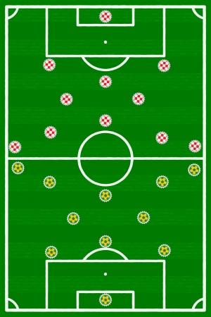 football match: Corrisponde Brasile Inghilterra calcio illustrazione
