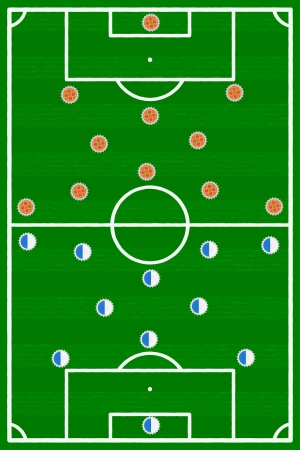 francais: France Holland football match illustration