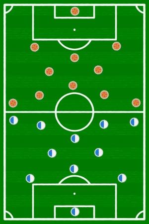 football match: Incontro France Olanda calcio illustrazione