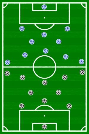 Italy Germany football match illustration Stock Vector - 22101641