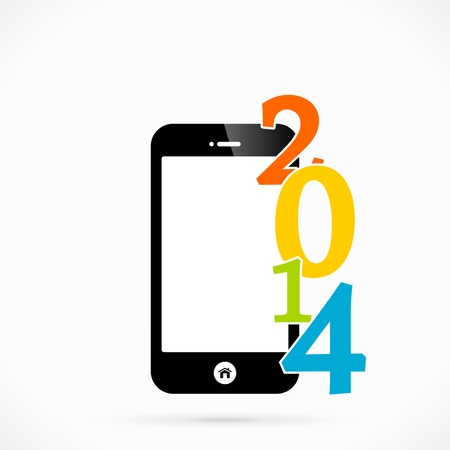 2014 mobile phone vector background Vector