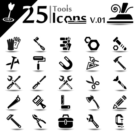 Tool icon set, basic series