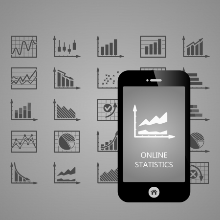Business Infographic mobile phone applications illustration Stock Vector - 22150610