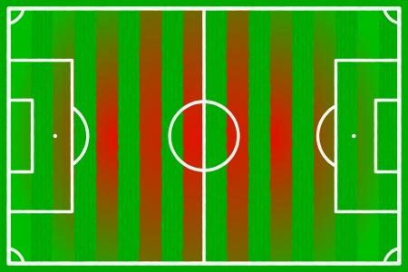 Soccer field abstract China, Turkey flag Stock Vector - 22206555
