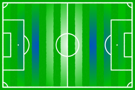 soccer field: Soccer field abstract Greece, Argentina, Israel flag Illustration