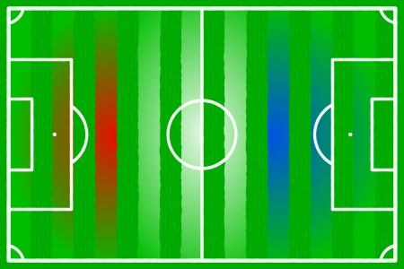 Soccer field abstract Holland, Croatia, Korea, Paraguay flag Vector