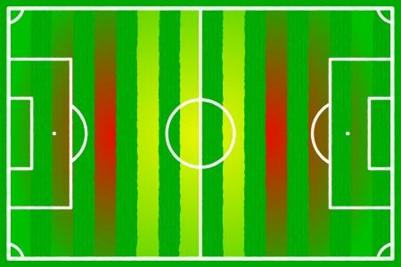 Soccer field abstract Spain flag Stock Vector - 22206566
