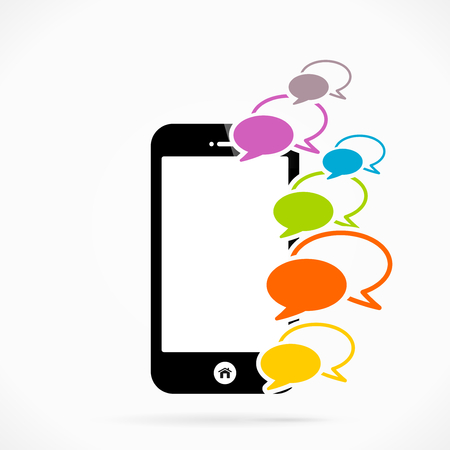 Mobile phone chat   abstract vector illustration Vector