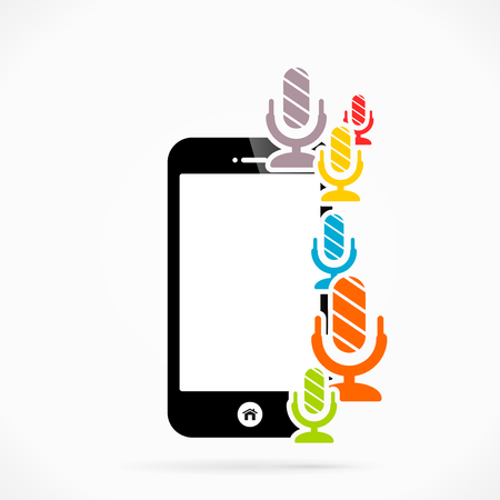 discourse: Mobile phone speak  abstract vector illustration