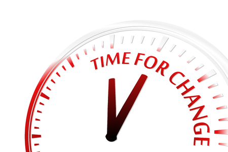 better icon: Time for change clock vector illustration Illustration