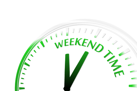 Weekend time clock vector illustration Stock Vector - 22203560