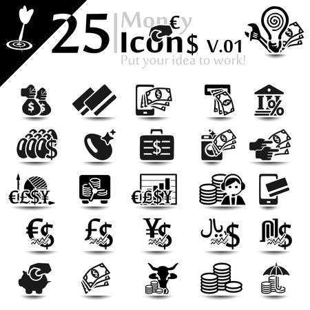 L'argent et la finance icône ensemble, série de base Banque d'images - 22474468