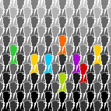 conglomerate: Colorful business group seamless abstract background