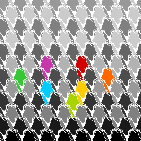 Colorful business group seamless abstract background Vector