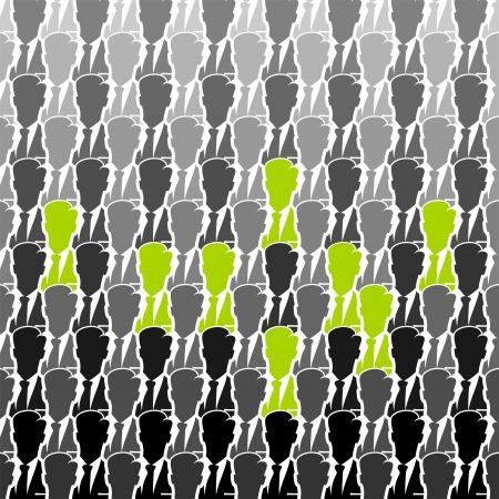 a faction: Green business group seamless abstract background