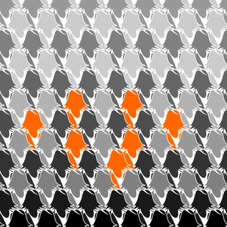 conglomerate: Orange business group seamless abstract background Illustration