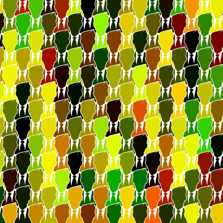 conglomerate: Colorful business group seamless abstract vector background Illustration