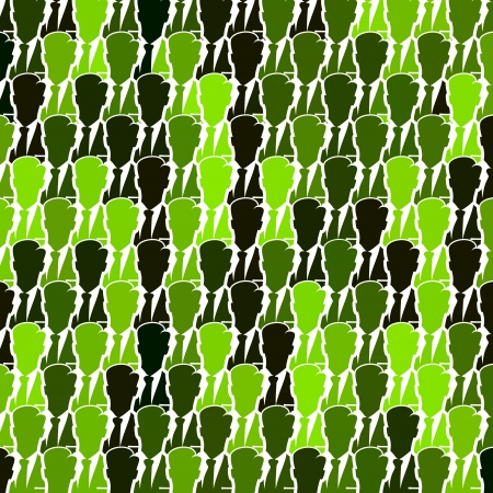 Green business group seamless abstract vector background Vector