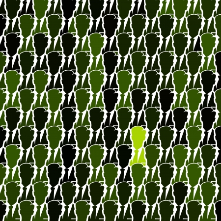 conglomerate: Green business silhouette seamless abstract vector background