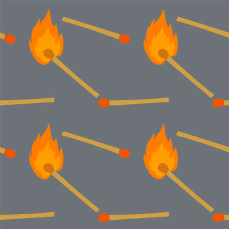 Safe match background. Illustration of a match on a textile background texture.
