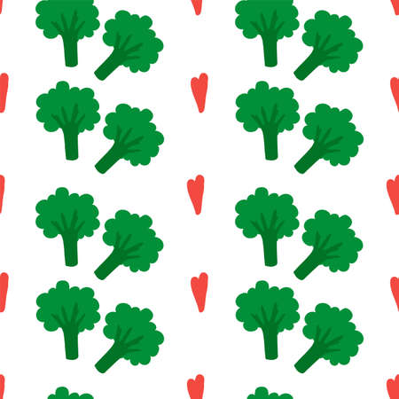 The background is a nice bed of broccoli. Baby green vegetable for your organic fun kitchen textiles.