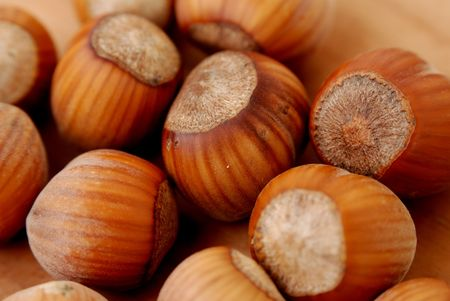 nutrient: close up of hazelnut. nutrient fruit Stock Photo