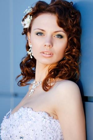 Portrait de la jeune mariée belle