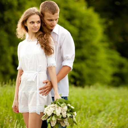 Retrato de una bella pareja en el amor Foto de archivo - 9811777