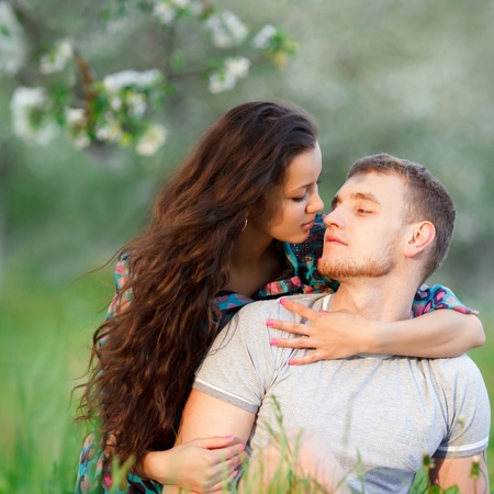 portrait of a beautiful couple in love photo