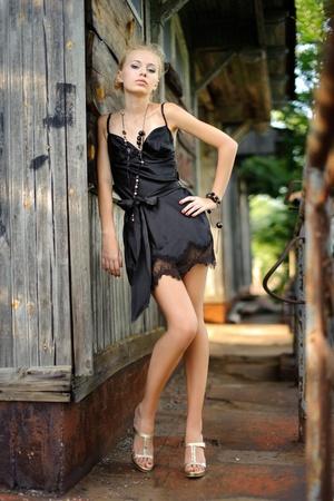 Young beautiful model girl posing  Stock Photo