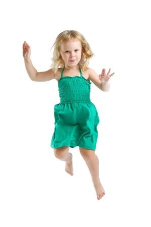 little girl in studio on white background  photo