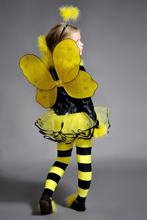 Small girl is dressed at bee costume Stock Photo - 11730093