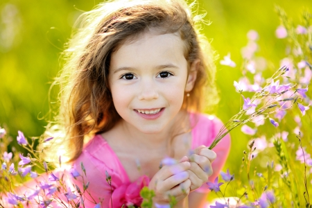 portrait of little girl outdoors in summer Stock Photo - 13964393