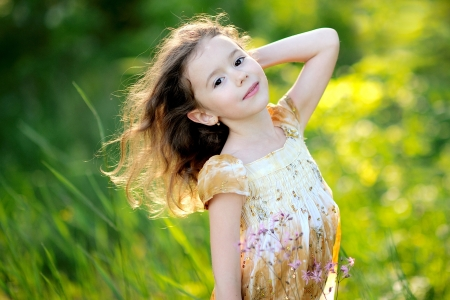 portrait of little girl outdoors in summer Stock Photo - 13964395