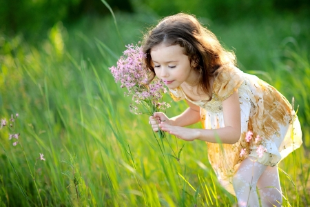 portrait of little girl outdoors in summer Stock Photo - 13964382