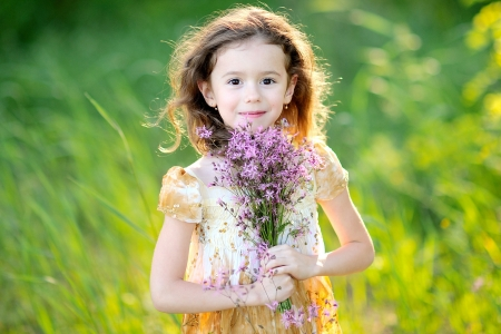 portrait of little girl outdoors in summer Stock Photo - 13964381