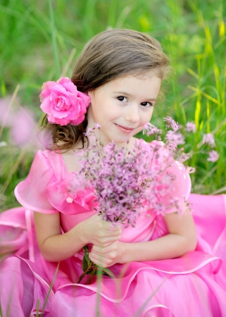portrait of little girl outdoors in summer Stock Photo - 13972518