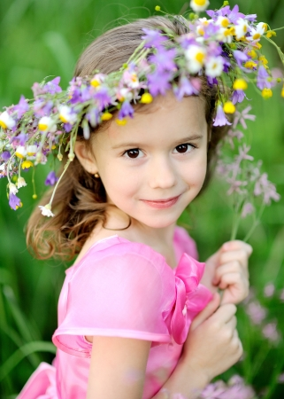 portrait of little girl outdoors in summer Stock Photo - 13964386