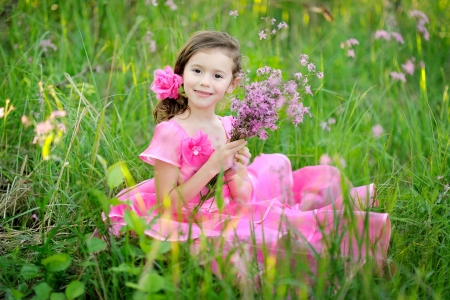 portrait of little girl outdoors in summer Stock Photo - 14186728