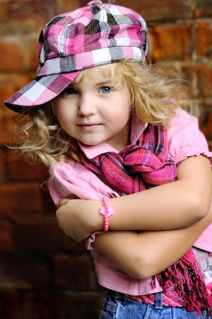 portrait of a Beauty and fashion child girl